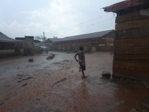 Deluge in Kampala between Slum Bwaise 3, Zone Katooga and  Zone Kawempe A,