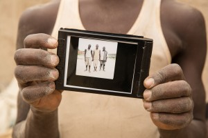 Polaroid frame we made for the rice workers who allowed me to  photograph them in Bujumbura