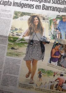 My Page 3 appearance in El Heraldo, Barranquilla in Colombia